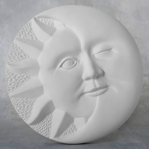 Duncan Cone 04 Home Decor Bisque - Sun/Moon Plaque